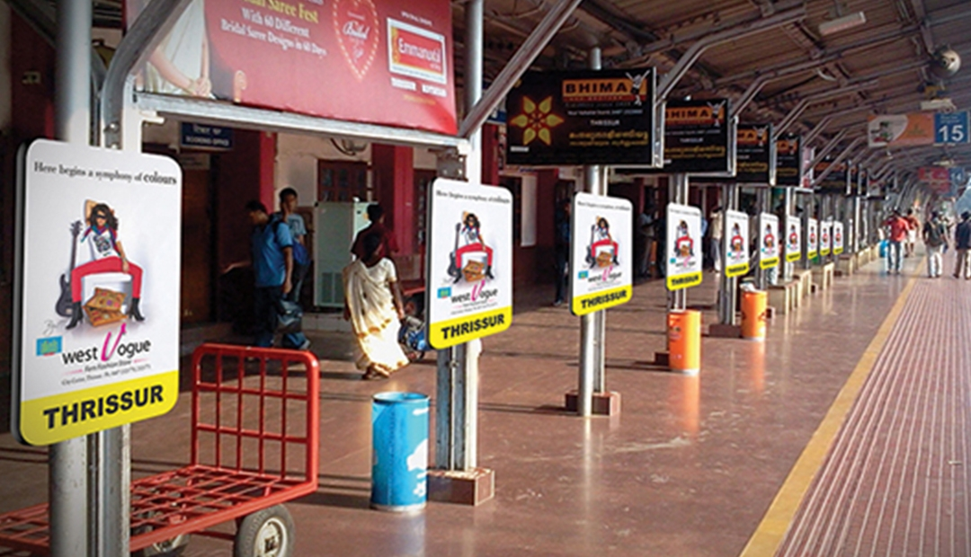 railway station advertising Mumbai, local train advertising Mumbai
