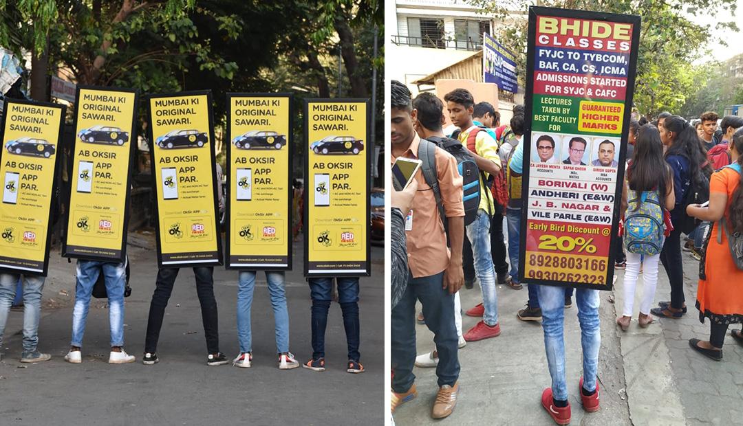 human banner advertising in Mumbai, outdoor advertising agencies in Mumbai