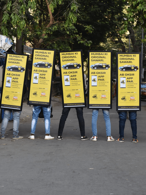 human banner advertising in mumbai,outdoor advertising agencies in mumbai