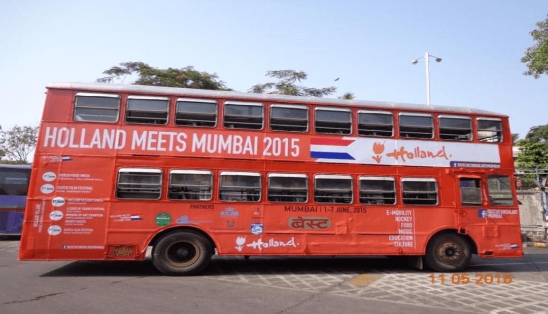 bus advertising in Mumbai bus shelter